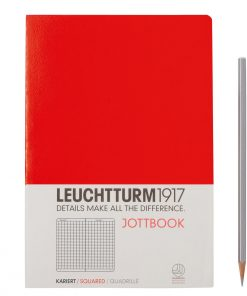 , Jottbook Medium (A5) 60 Pages, 16 Pages Perforated, Squared, Red