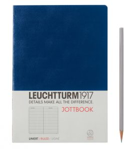 , Jottbook Medium (A5) 60 Pages, 16 Pages Perforated, Ruled, Navy