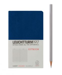 , Jottbook Pocket (A6) 60 Squared Pages, 16 Pages Perforated, Squared, Navy