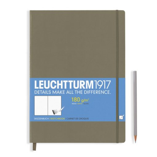 , Sketchbook Master (A4+) 96 Pages (180gsm), Plain, Taupe