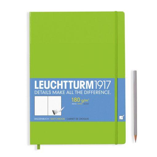 , Sketchbook Master (A4+) 96 Pages (180gsm), Plain, Lime