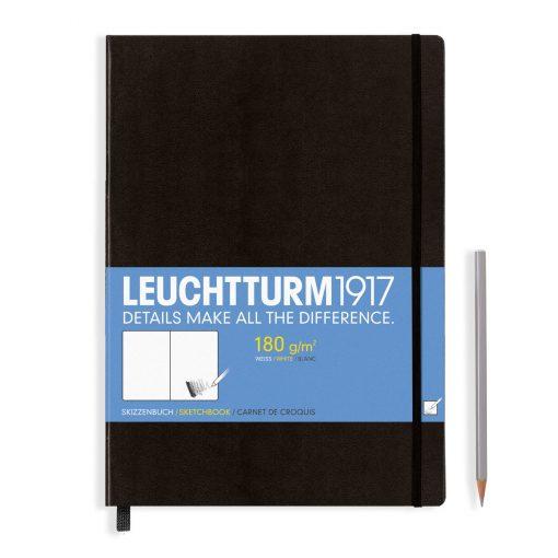 , Sketchbook Master (A4+) 96 Pages (180gsm), Plain, Black