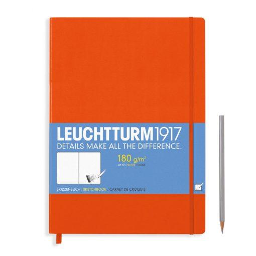 , Sketchbook Master (A4+) 96 Pages (180gsm), Plain, Orange