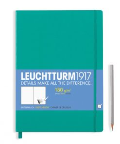 , Sketchbook Master (A4+) 96 Pages (180gsm), Plain, Emerald