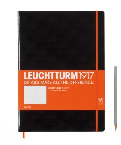 Theme notebooks & special Editions Notebook Master Slim (A4+) Whitelines Link, Hardcover, 121 Numbered Pages, Black, Ruled