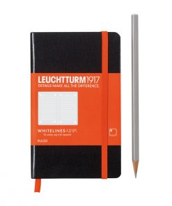 A6 - Pocket Notebook Pocket (A6) Whitelines Link, Hardcover, 185 Numbered Pages, Black, Ruled