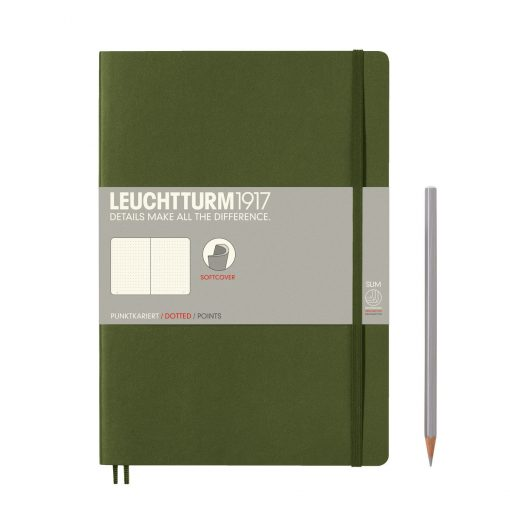 , Notebook Composition (B5) Dotted, Softcover, 121 Numbered Pages, Army