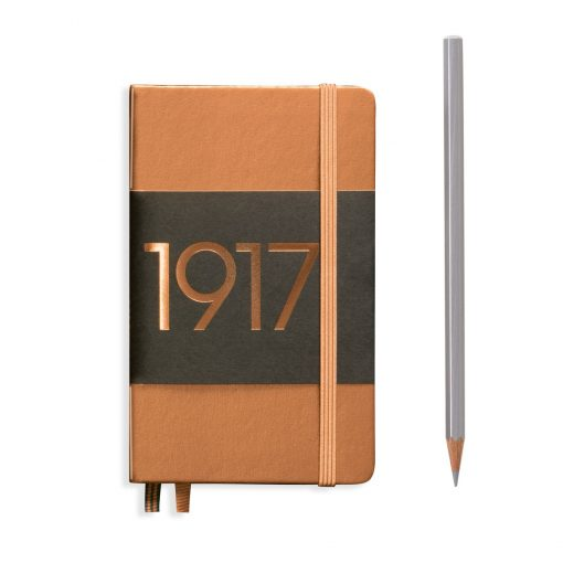 , Notebook Pocket (A6) Plain, Hardcover, 187 Numbered Pages, Copper