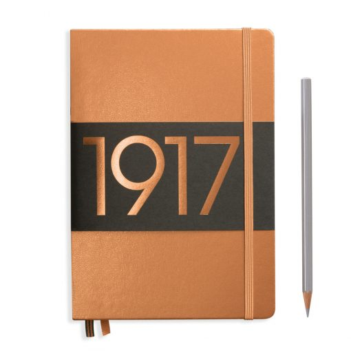 , Notebook Medium (A5) Lined, Hardcover, 251 Numbered Pages, Copper