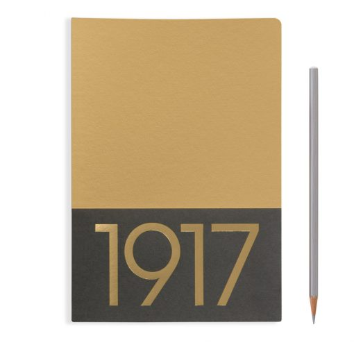 , Jottbook Medium (A5), 60 Pages, Ruled, Gold, Pack Of Two