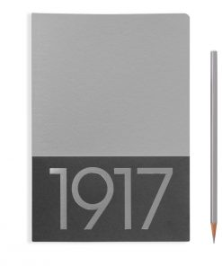 1917 Metallic Edition Jottbook Medium (A5), 60 Pages, Plain, Silver, Pack Of Two