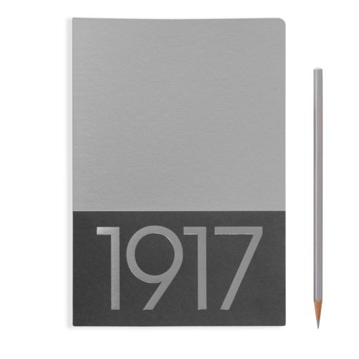 , Jottbook Medium (A5), 60 Pages, Plain, Silver, Pack Of Two