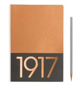 , Jottbook Medium (A5), 60 Pages, Ruled, Copper, Pack Of Two