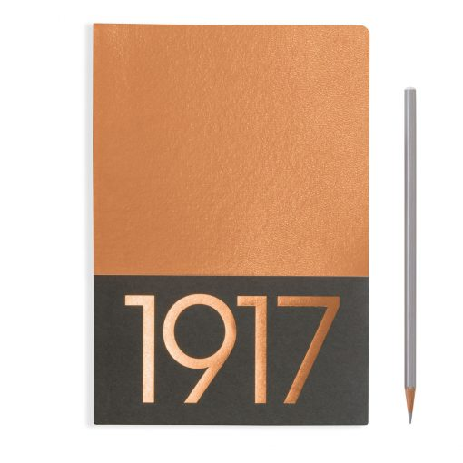 , Jottbook Medium (A5), 60 Pages, Plain, Copper, Pack Of Two
