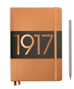1917 Metallic Edition Notebook Medium (A5) dotted, Hardcover, 251 numbered pages, copper