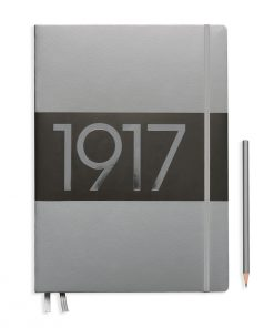 1917 Metallic Edition Notebook Slim Master (A4+) Dotted, Hardcover, 123 Numbered Pages, Silver