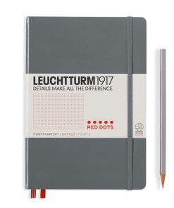 , Bullet Journal Notebook Medium (A5) Hardcover, 240 Numbered Pages, Dotted, Black