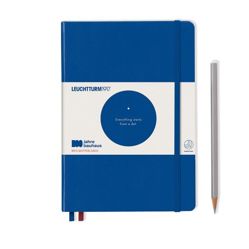 , Notebook Medium (A5), Hardcover, 251 Numbered Pages, Royal Blue, Bauhaus 100