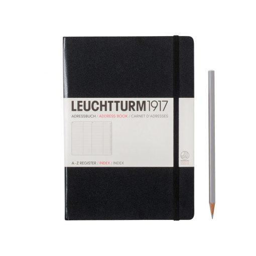 , Address Book Medium (A5), Hardcover, Black