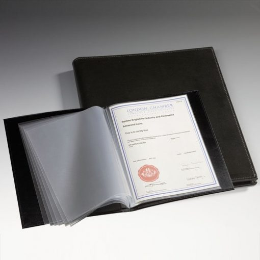 , Certificate Portfolio with 40 Pockets (A4)