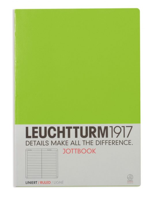 , Jottbook Pocket (A6) 60 Squared Pages, 16 Pages Perforated, Squared, Lime