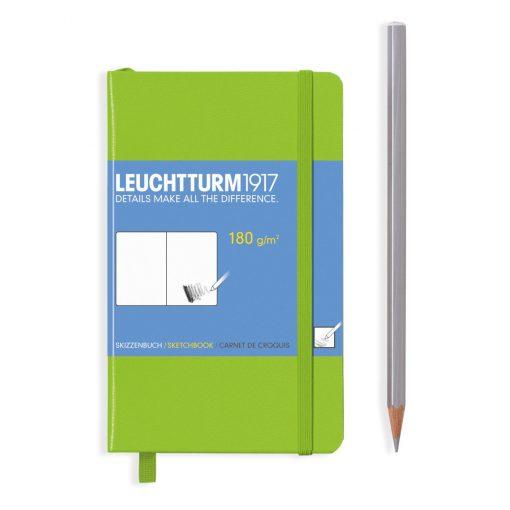 , Sketchbook Pocket (A6) 96 Pages (180gsm), Plain, Lime