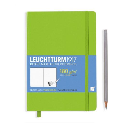 Sketchbooks Sketchbook Medium (A5) 96 Pages (180gsm), Plain, Lime