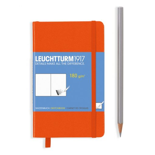 , Sketchbook Pocket (A6) 96 Pages (180gsm), Plain, Orange
