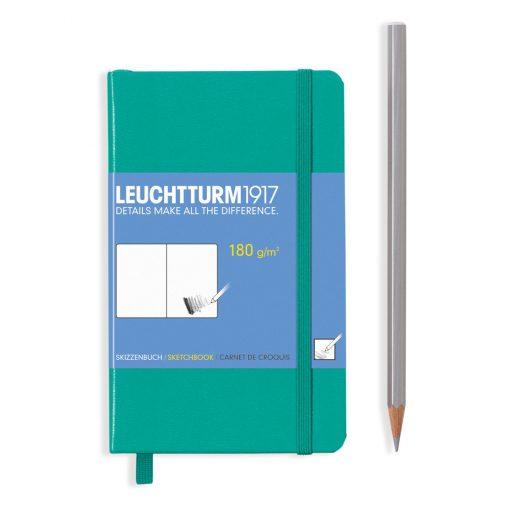 , Sketchbook Pocket (A6) 96 Pages (180gsm), Plain, Emerald