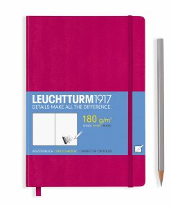 , Sketchbook Pocket (A6) 96 Pages (180gsm), Plain, Black