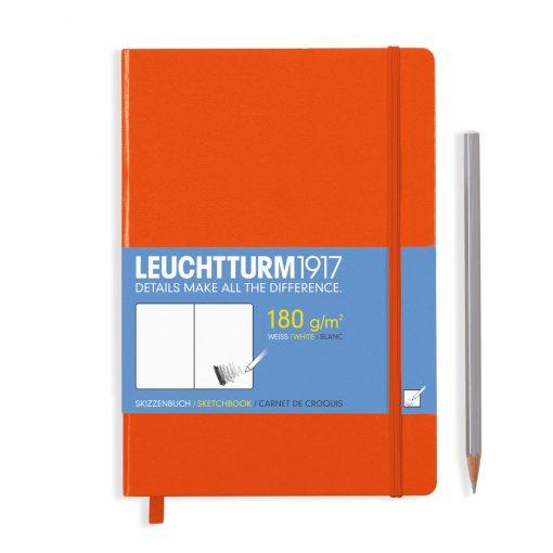 , Sketchbook Medium (A5) 96 Pages (180gsm), Plain, Orange