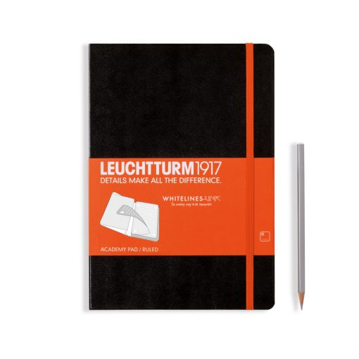 Theme notebooks & special Editions Academy Pad Medium (A5) Whitelines Link, Hardcover, 60 Sheets, Ruled, Black