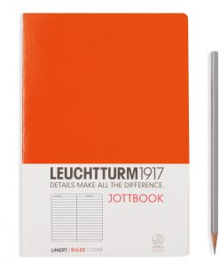 Jottbooks A5 Jottbook Medium (A5), 60 Pages, 16 Pages Perforated, Ruled, Orange