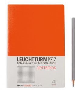 , Jottbook Medium (A5), 60 Pages, 16 Pages Perforated, Squared, Orange