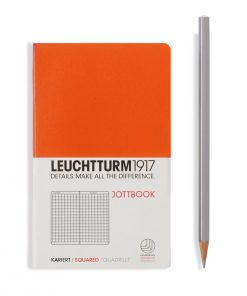, Jottbook Pocket (A6), 60 Pages, 16 Pages Perforated, Squared, Orange