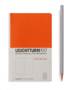 , Jottbook Pocket (A6), 60 Pages, 16 Pages Perforated, Plain, Orange