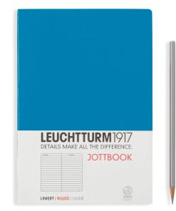 Jottbooks A5 Jottbook Medium (A5), 60 Pages, 16 Pages Perforated, Ligné, Azure