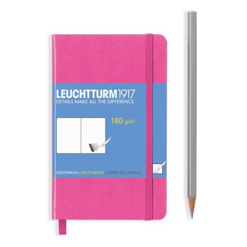 , Sketchbook Pocket (A6) Plain, 96 Pages (180gsm), New Pink