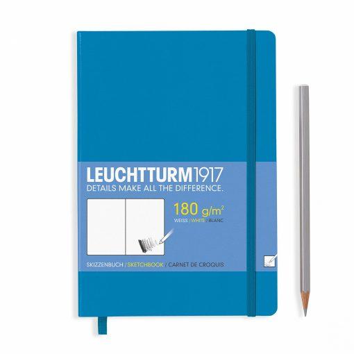Sketchbooks Sketchbook Medium (A5) Plain, 96 Pages (180gsm), Azure