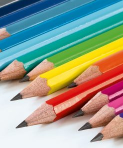 , Pencil HB, Assorted 2 Colours: 4 x Black, 1X Royal Blue, Bauhaus 100