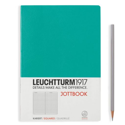 , Jottbook Medium (A5), 60 Pages, 16 Pages Perforated, Squared, Emerald