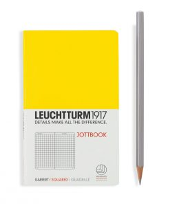 , Jottbook Pocket (A6), 60 Pages, 16 Pages Perforated, Squared, Lemon