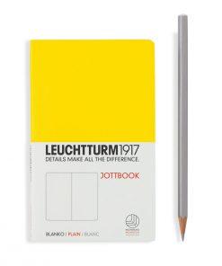 , Jottbook Pocket (A6), 60 Pages, 16 Pages Perforated, Plain, Lemon