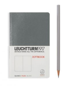 , Jottbook Pocket (A6), 60 Pages, 16 Pages Perforated, Plain, Anthracite Grey