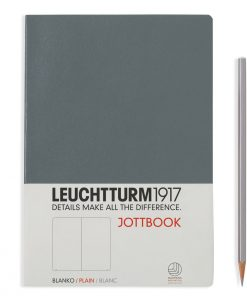 Jottbooks A5 Jottbook Medium (A5), 60 Pages, 16 Pages Perforated, Plain, Anthracite Grey
