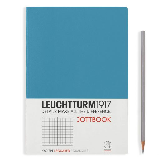 Jottbooks A4 Jottbook A4, 60 Pages, 16 Pages Perforated, Squared, Nordic Blue