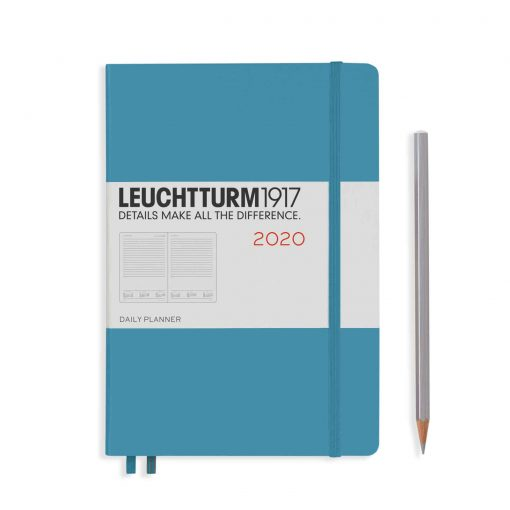 2020 Diaries - Available September 2019 - Backorder Now Daily Planner 12 Months Medium (A5) 2019 Nordic Blue, English