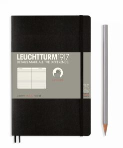 Notebooks Notebook Paperback (B6+) ruled, softcover, 123 numbered pages, black