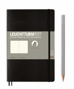 Notebooks Notebook Paperback (B6+) plain, softcover, 123 numbered pages, black