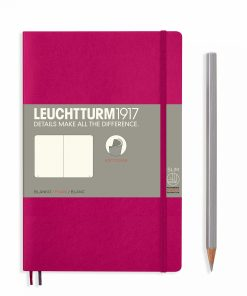 Notebooks Notebook Paperback (B6+) plain, softcover, 123 numbered pages, berry